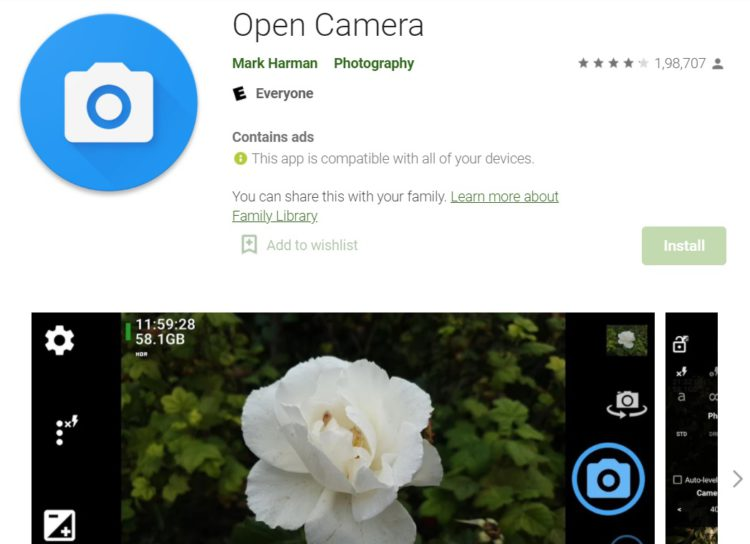 open-camera-android-app
