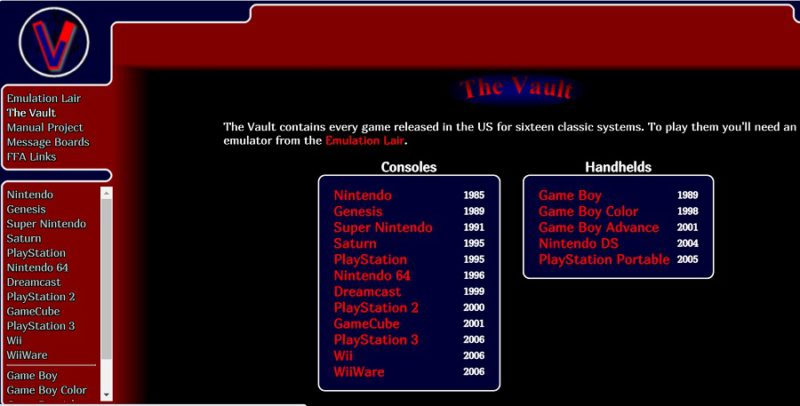 vimms-lair-rom-site